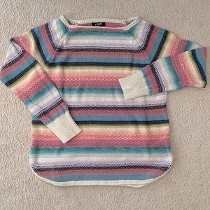 Pastel Chaps striped knit oversized sweater